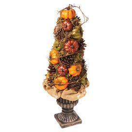 Faux Pumpkin & Pinecone Topiary