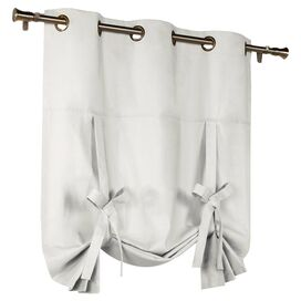 White Grommet Tie-Up Curtain Panel