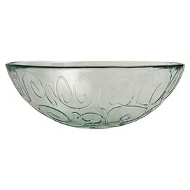 Mediterranean Serving Bowl in Ice Clear