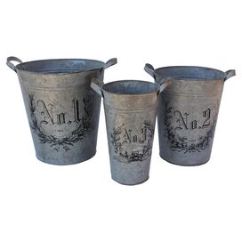 3-Piece Botanica Pail Set