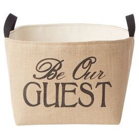 Be Our Guest Storage Bin