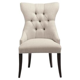 Samantha Tufted Accent Chair in Cream