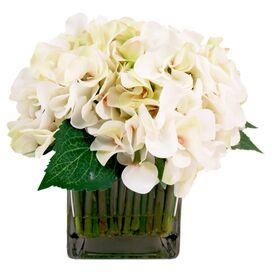 Faux Cream Hydrangea