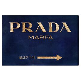 Marfa Navy Canvas Print, Oliver Gal
