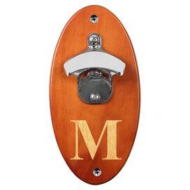 Personalized Wall-Mount Bottle Opener in Amber