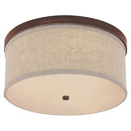Valerie Flush Mount in Burnished Bronze