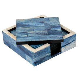 5-Piece Marina Bone Coaster & Tray Set