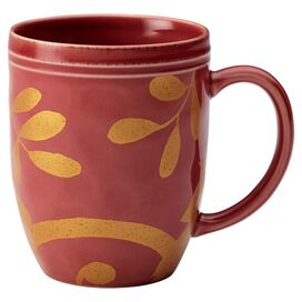 Rachael Ray Scroll Mug in Cranberry Red (Set of 4)