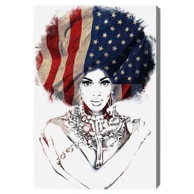American Woman Canvas Print, Oliver Gal