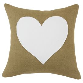 Heart Pillow in Tan
