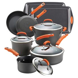 Rachael Ray 12-Piece Stainless Steel Cookware Set