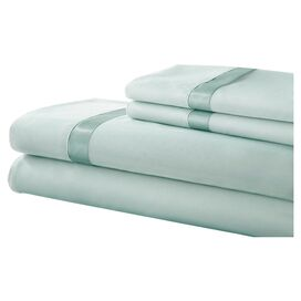 Gilda Sheet Set in Soft Jade & Medium Jade