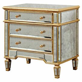 Felicity Mirrored Chest in Gold