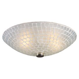 Rashad Semi-Flush Mount in Polished Nickel