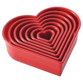 Cake Boss 7-Piece Heart Fondant & Cookie Cutter Set
