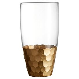 Daphne Highball Glass in Gold (Set of 4)
