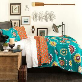 Adrianne Quilt Set in Turquoise