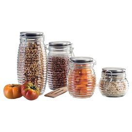 4-Piece Beehive Canister Set