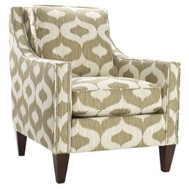 Pryce Arm Chair in Cream and Oatmeal