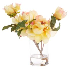 Faux Yellow Peony