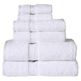 6-Piece Seneca Egyptian Cotton Towel Set in White