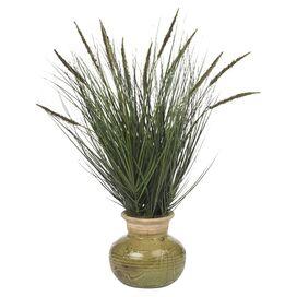 Faux Grass & Cattail