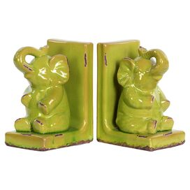 Hachi Bookends in Olive