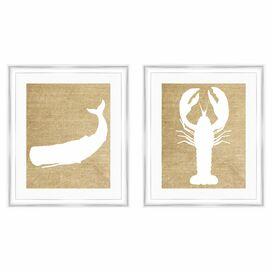 Neutral Sea Framed Giclee Print (Set of 2)