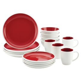 Rachael Ray 16-Piece Dinnerware Set in White