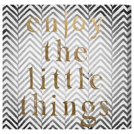 Enjoy the Little Things Canvas Print, Oliver Gal
