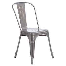 Marius Side Chair in Gunmetal