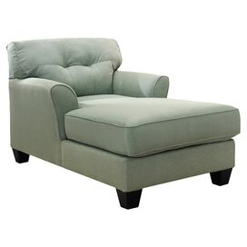 Samantha Tufted Chaise in Lagoon