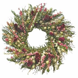 Preserved Celosia & Fern Wreath