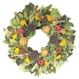 Preserved Artichoke & Lotus Wreath