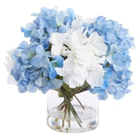Faux Blue & White Hydrangea