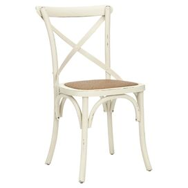 Franklin Side Chair in Antique White & Natural (Set of 2)