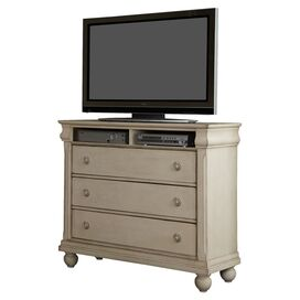 Raymond Media Console in Rustic White