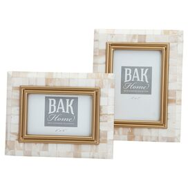 2-Piece Penelope Bone Picture Frame Set