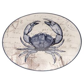 Coastal Postcards Crab Platter
