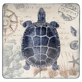 Coastal Postcards Sea Turtle Platter