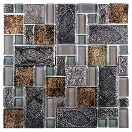 Eden Mosaic Glass & Stone Tile (Set of 10)