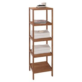 5-Shelf Bamboo Storage Tower