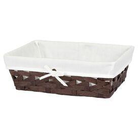 Rattan & Cotton Basket
