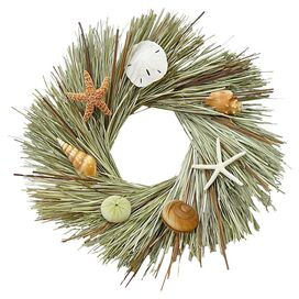 Preserved Cattail & Beargrass Wreath