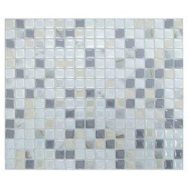Shadi Mosaic Tile in Pearl & Gray (Set of 6)