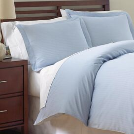 800 Thread Count Duvet Cover Set in Sky Blue