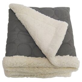 Elmo Water-Repellent Throw in Gray