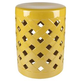 Finley Garden Stool in Yellow