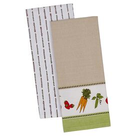 Fresh Veggies Dishtowel (Set of 2)