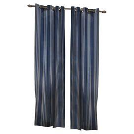 Blue Grommet Top Curtain Panel